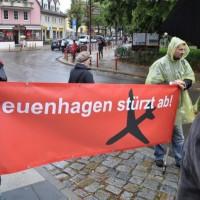 Fotos der Fluglärm-Demo in Neuenhagen gegen BBI-Flugrouten