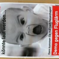 Demo gegen neue Müggelsee-Flugroute wegen Flugzeuglärm in Neuenhagen
