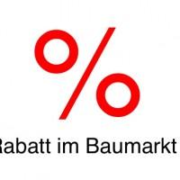 Rabatt im Baumarkt – 19% bei Praktiker
