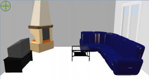 Wohnzimmer im virtuellen Rundgang
