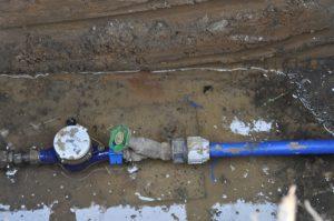 Anschluss für das Bauwasser