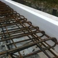 Erdgeschoss-Decke – Vorbereitung zum Beton-Gießen