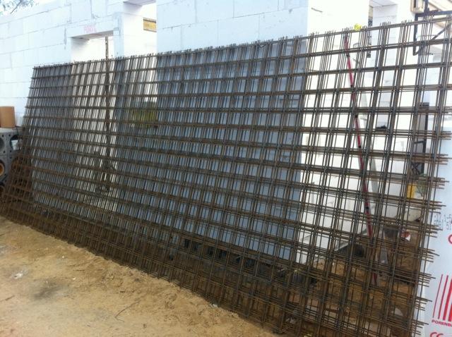 Stahl-Bewehrung für die Filigrandecke
