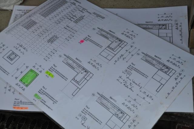 Planung der Decken-Verlegung