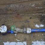 Übergabeschacht für den Wasseranschluss