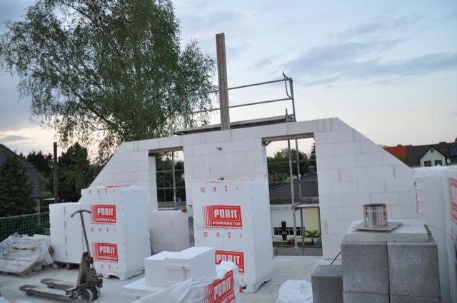 Aktuelle Bautenstand des Rohbau im Obergeschoss
