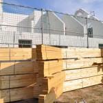 Dach: Balken für das Dachgeschoss