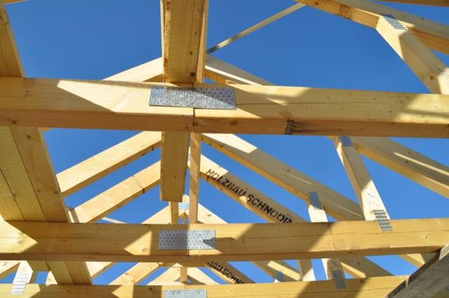 Hausbau-Einfamilienhaus: Unser Dachstuhl