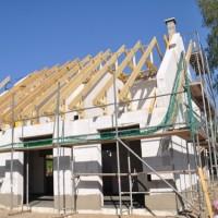 Satteldach – Dachstuhl fast fertig