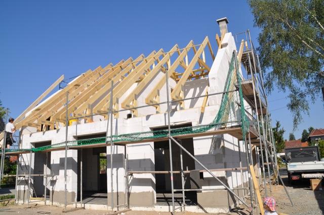 Unser Dachstuhl fürs Satteldach