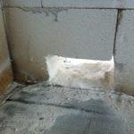 Externe Luftzufuhr für den Kamin von Innen