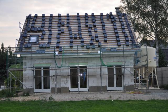 Dacheindeckung unseres Satteldachs