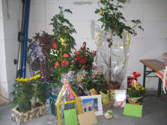 Geschenke für die Bauherren beim Richtfest