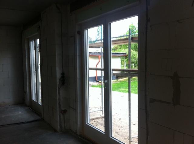 Terassenfenster im Wohnzimmer