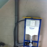 Dunstabzug-Abluft-WC-Installation
