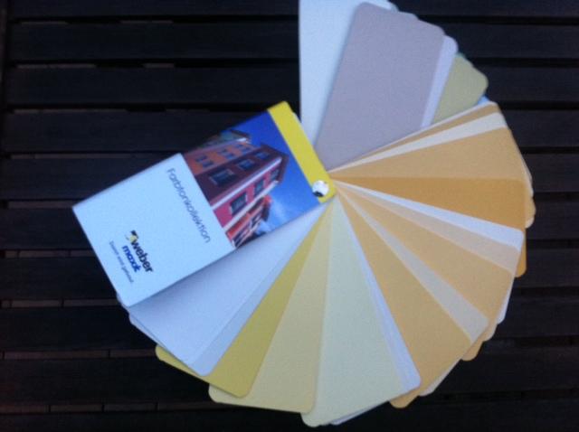 Farbpalette in Gelb für die Haus-Aussenfassade