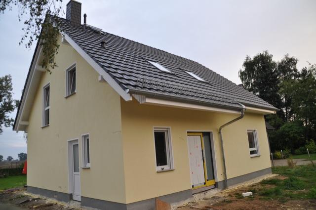 Unser Haus-Neubau - die Fassade von vorn