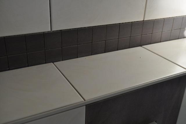 Helle Dunkle Und Mosaik Fliesen Fur Die Gaste Toilette Hausbau Blog