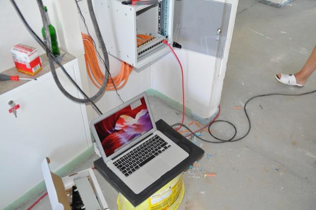 Test des Heimnetzwerk mit dem Laptop