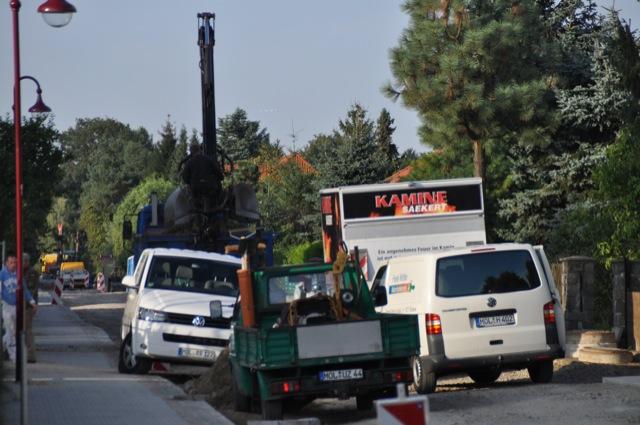 Action auf der Baustelle