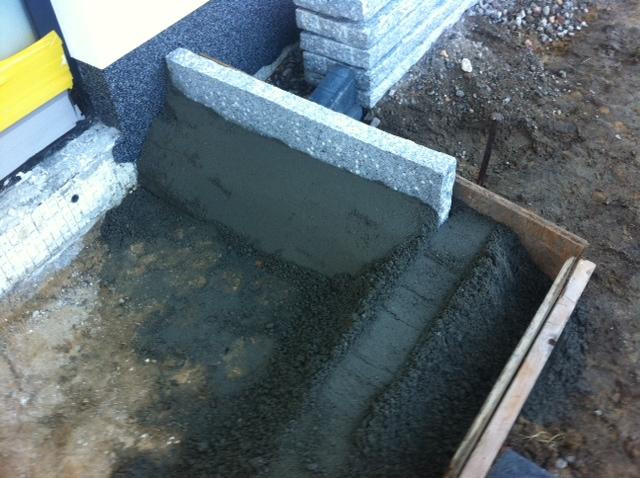 Hausbau: Podest für den Eingang