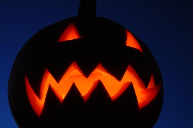 Unser Halloween-Kürbis-Monster-Gesicht