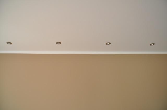 Einbauspots fürs Wohnzimmer in Filigrandecke / Betondecke