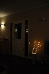 Kleinigkeiten wie dieser Lichtstrauch machen das Wohnen erst angenehm