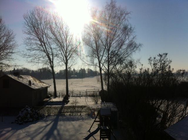 Winter im Hausbau-Blog - kalt aber sonnig