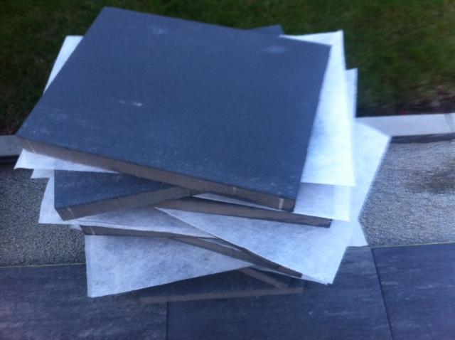 Verpackung zum Schutz der Terrassenplaten