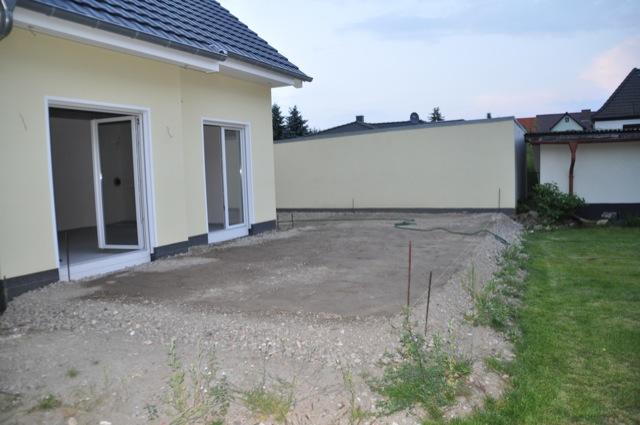 Terrassengestaltung beim Hausbau - Recycling Untergrund