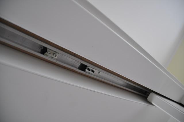 Schiebetür: Die Laufleiste oben - da hängen die Türen dran