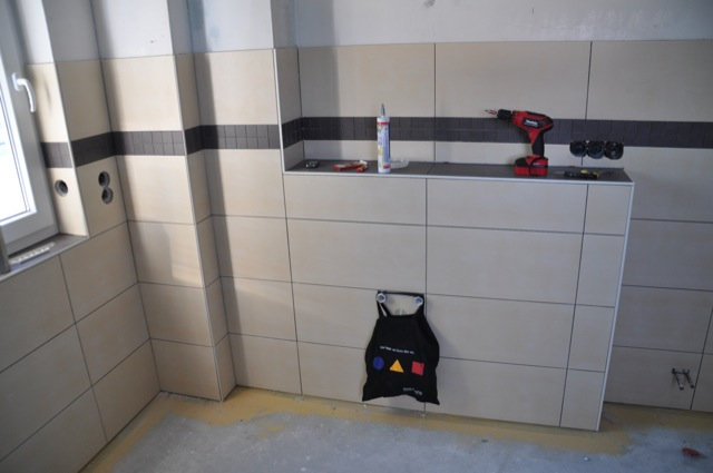 Vorwand-Installation fürs Waschbecken