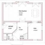 Angepasster Einfamilienhaus Grundriss mit Schiebetür in der Küche
