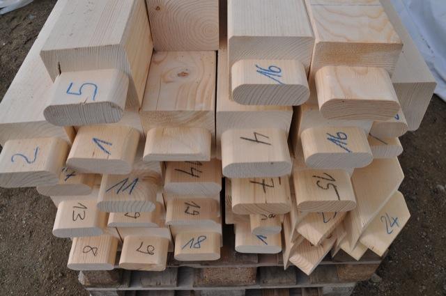 Nummerierung Pfosten - Beschriftung der Balken für den Carport