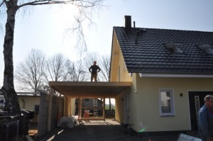 Carport selber bauen - Aufbau nach Anleitung