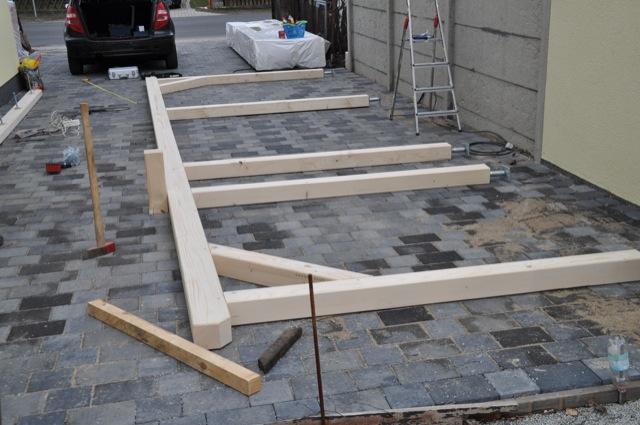 fotos aufbau anleitung carport zum selber bauen. Black Bedroom Furniture Sets. Home Design Ideas
