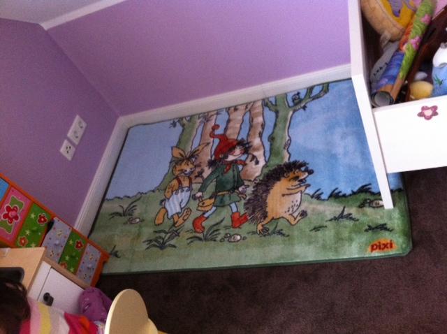 Kinderteppich / Spielteppich als Unterlage