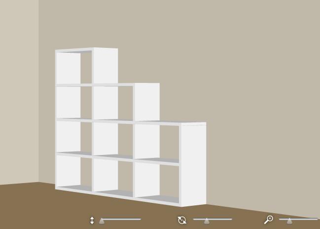 Individuelles Regalsystem für Dachschrägen