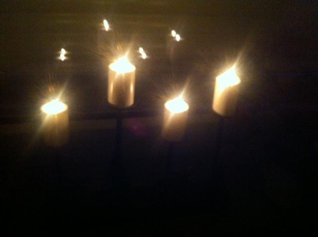 Fenster-Beleuchtung - kleiner Leuchtbogen