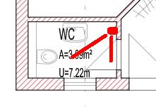Erfassungsbereich Bewegungsmelder im Gäste-WC