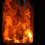 Flammenbild: Feuer im Kaminofen Koko Xtra