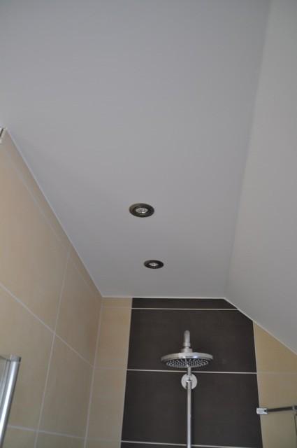 Spots in der Decke - Licht für die Dusche