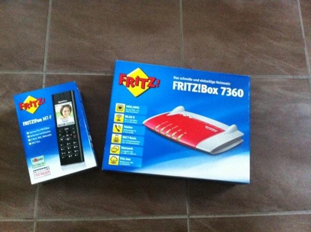 Fritzbox 7360 sowie Fritzfon MT-F fürs neue Haus
