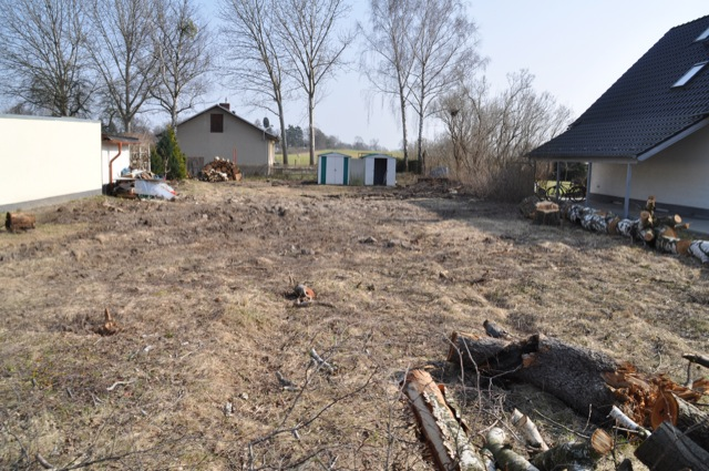 Grundstück wird langsam zum Baugrundstück