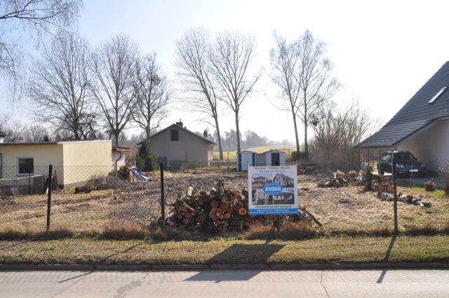 Grundstück wurde komplett geräumt
