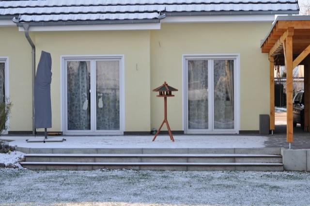 Stellplatz des Vogelhaus ist auf der Terrasse