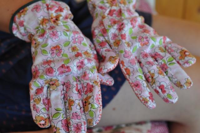 Gartenhandschuhe für Frauen - Blumenmuster für Damen