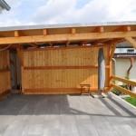 Carport und Terrassenüberdachung aus Holz
