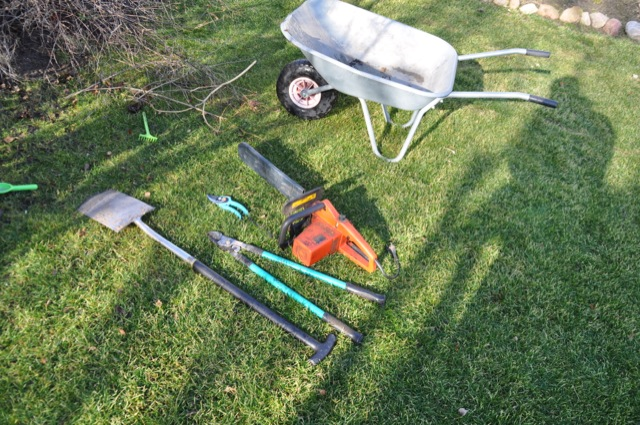 Der Arbeitseinsatz fordert allerlei Werkzeug